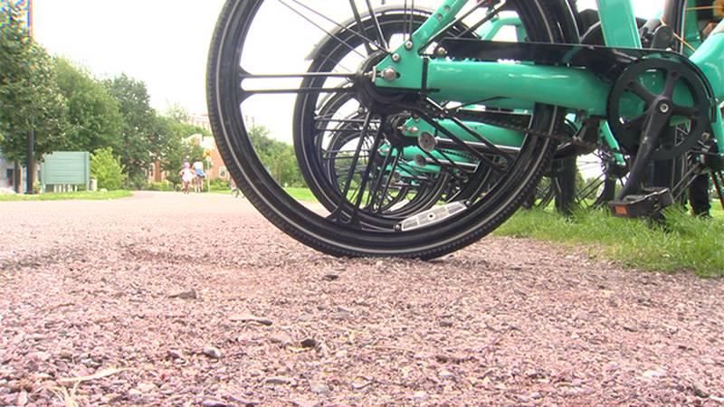 E-bikes on the Burlington Bike Path.