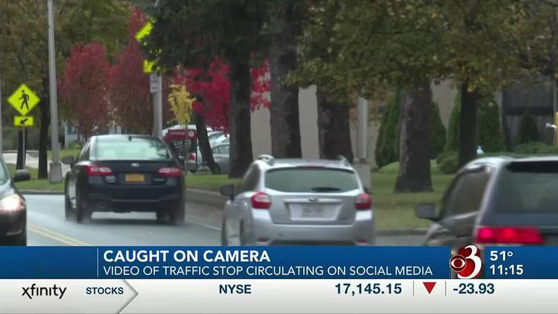 Traffic stop caught on camera circulating on social media