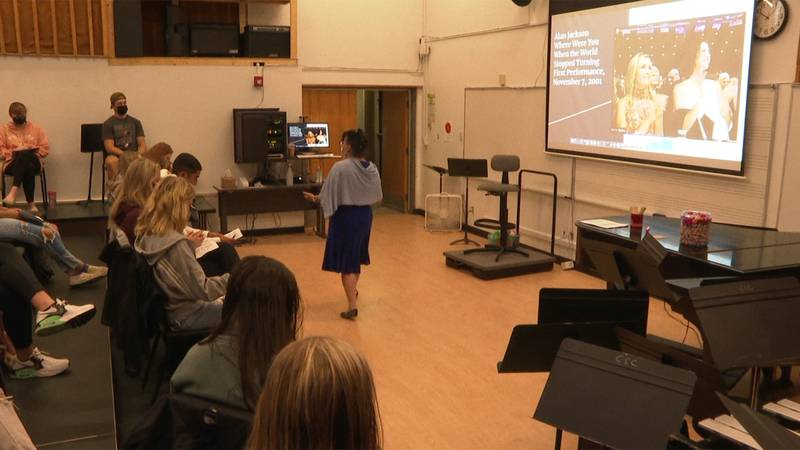 Some Castleton University students are learning about Sept. 11 through music.