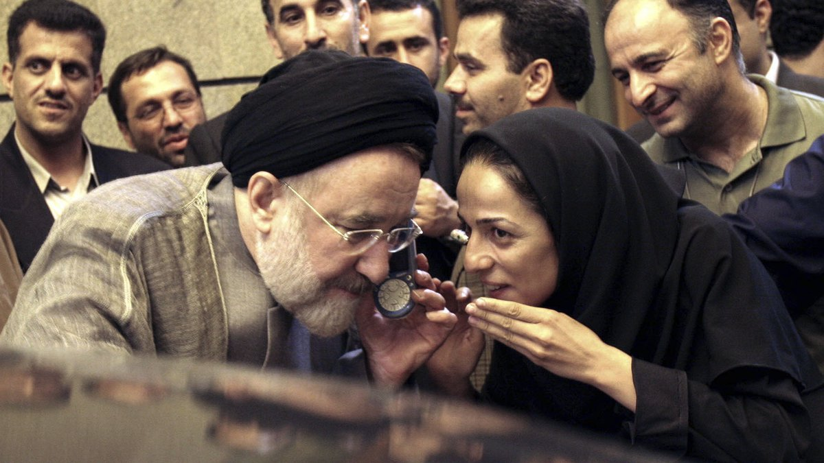 FILE - In this July 13, 2005, file photo, outgoing reformist Iranian President Mohammad Khatami...