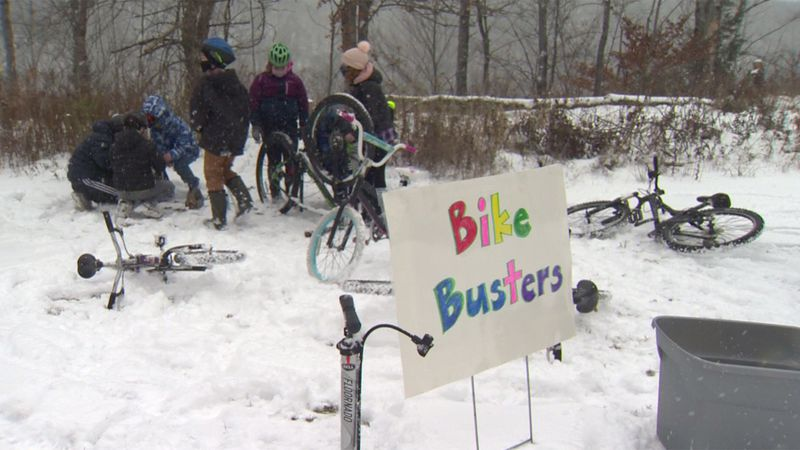 Students at Wolcott Elementary started Bike Busters to fix up bicycles for classmates in need.