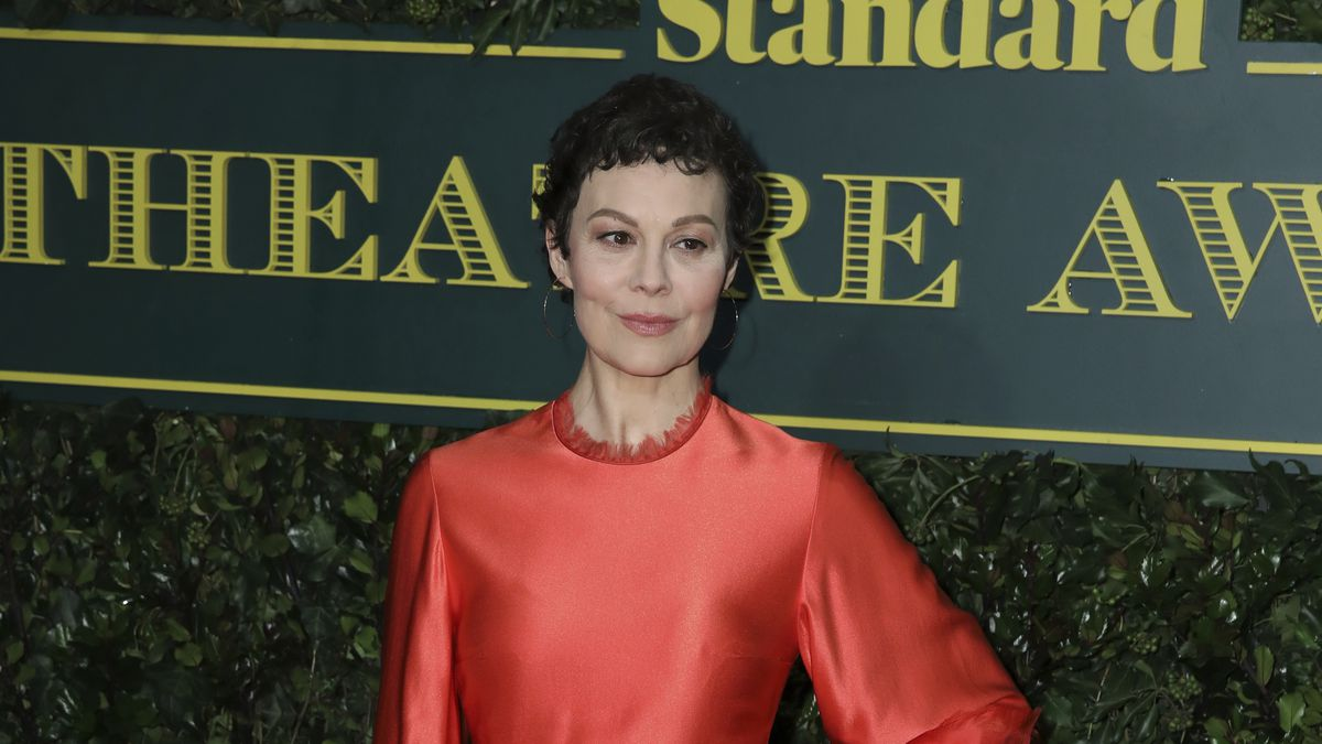 Actress Helen McCrory poses for photographers on arrival at the Evening Standard Theatre Award...