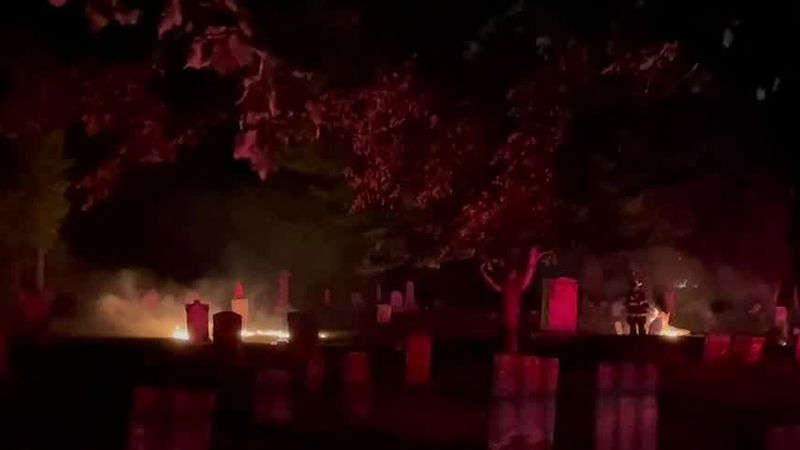 Burlington firefighters were busy Sunday night putting out a fire.