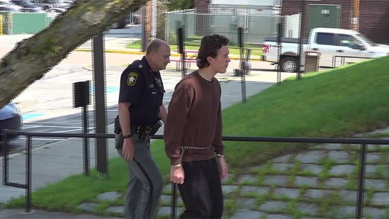 Alexander Cherkasov entering the Washington County Courthouse in Barre Thursday.