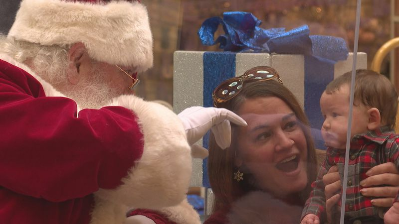 You can safely visit Santa Claus at the University Mall every day until Christmas Eve.