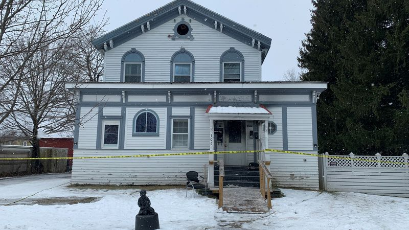 Authorities say stove ashes were to blame for a house fire in Bennington.