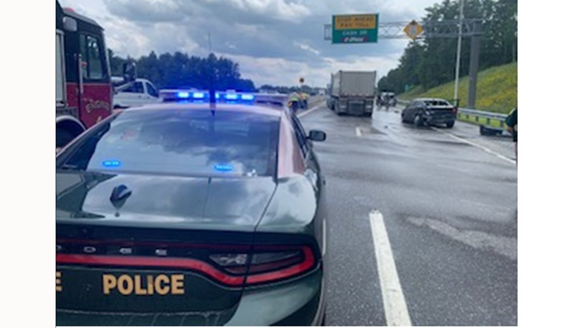 New Hampshire State Police say a crash involving multiple vehicles shut down several lanes of...