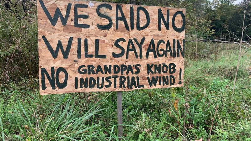 """A proposed wind turbine on top of Grandpa's Knob in Castleton has many people saying, """"Not in..."""