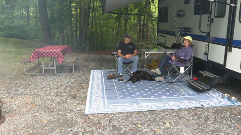 Campers at the Lake Bomoseen Campground in Hubbardton are making the most of the waning days of...