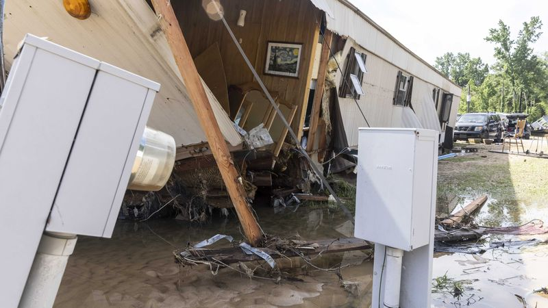Pictured Sunday, June 20, 2021, the home owned by Larry and Sally Higgins, was destroyed by...