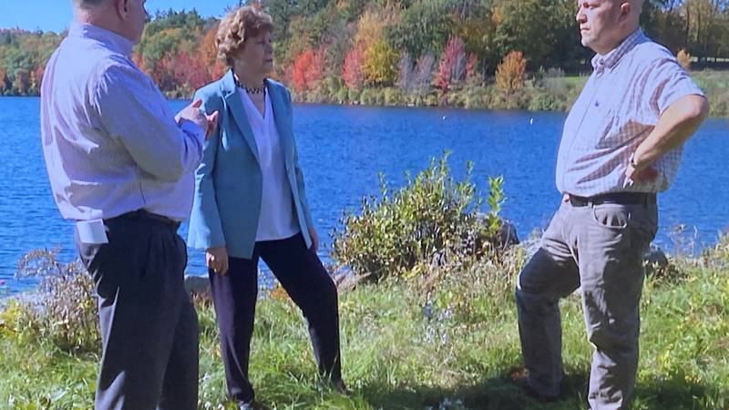 Sen. Jeanne Shaheen (center) on Wednesday toured Newport's water treatment facility and...