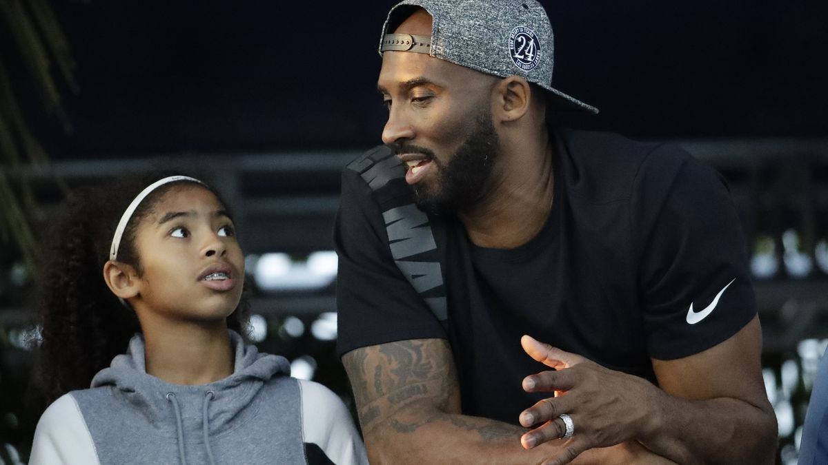 In this July 26, 2018, file photo, former Los Angeles Laker Kobe Bryant and his daughter Gianna...