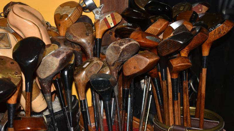 A Jeffersonville family is selling off a huge collection of golf clubs, balls, art,...