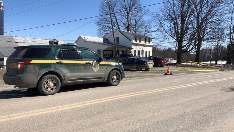 State police responded to Fletcher Friday morning where a man was found lying in a driveway.