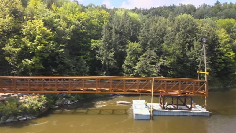 The Cross Vermont Trail bridge in East Montpelier.