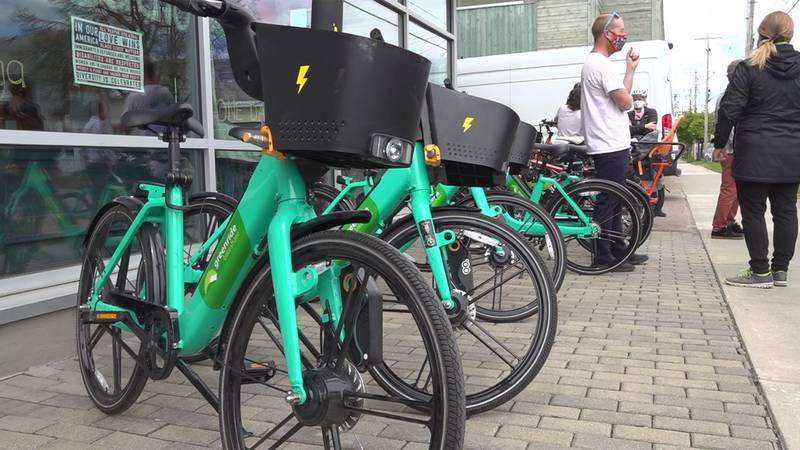 The 200 electric-assist bikes with Greenride Bikeshare will be placed at 30 strategically...