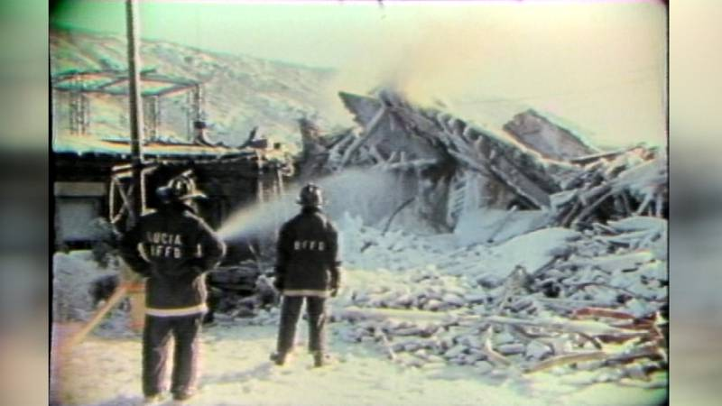 The aftermath of the fatal Star Hotel fire in Bellows Falls is seen the following day, Dec. 30,...