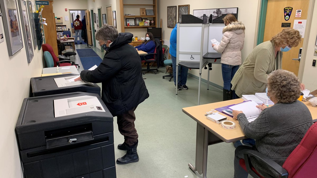 Voting in Berlin, Vermont, Tuesday.