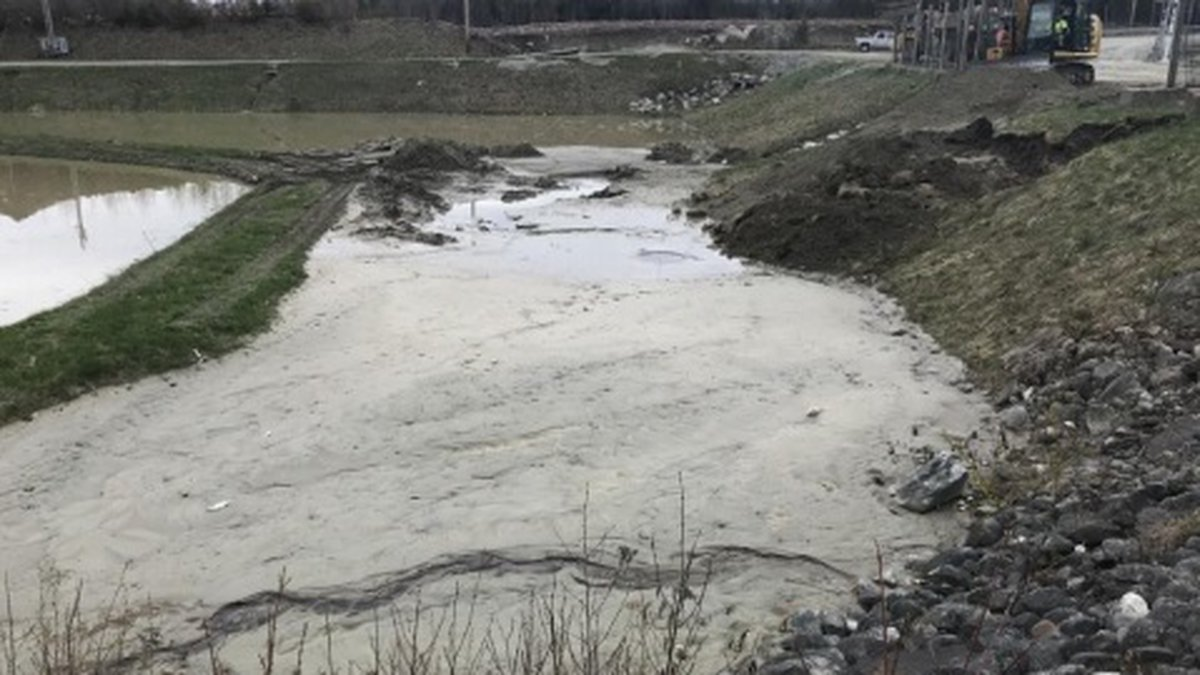 A leachate spill at the North Country Environmental Services landfill in Bethlehem in May.