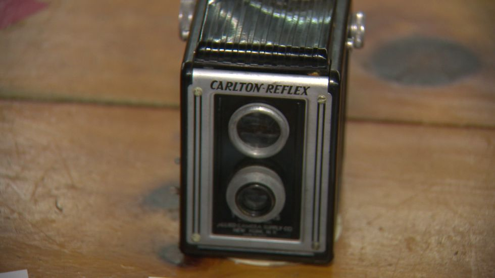 Krystle Wells bought this camera at an antique store and found film still inside.