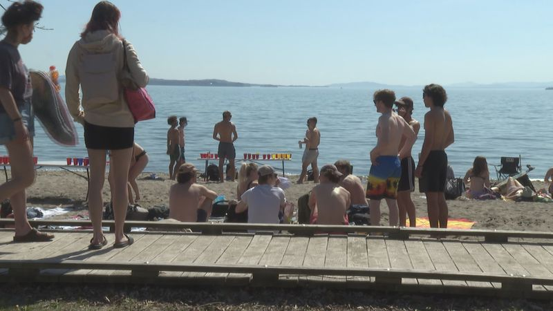 Young people flooded Burlington's North Beach Saturday afternoon.