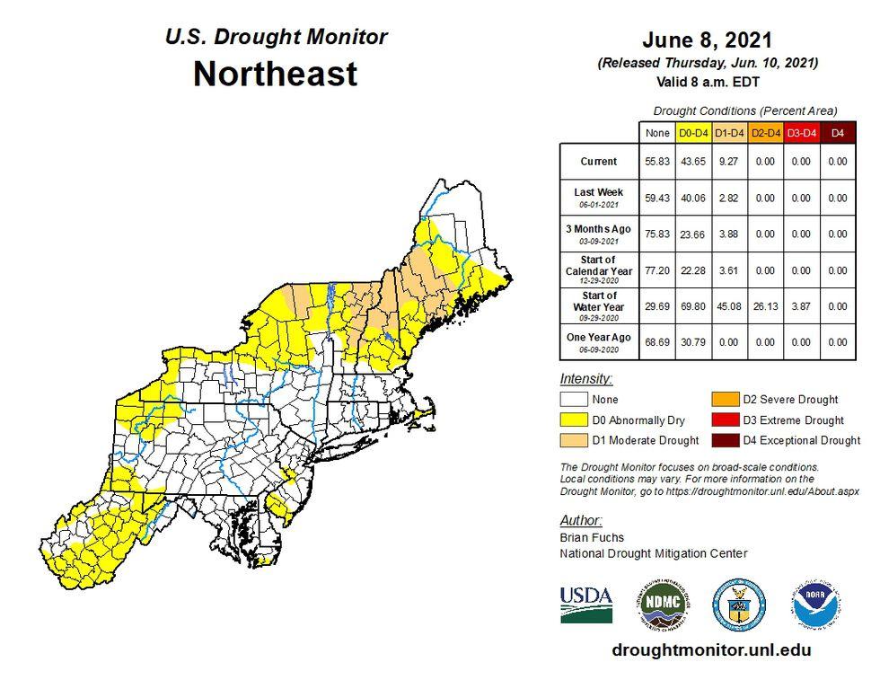 U.S. Drought Monitor Northeast report