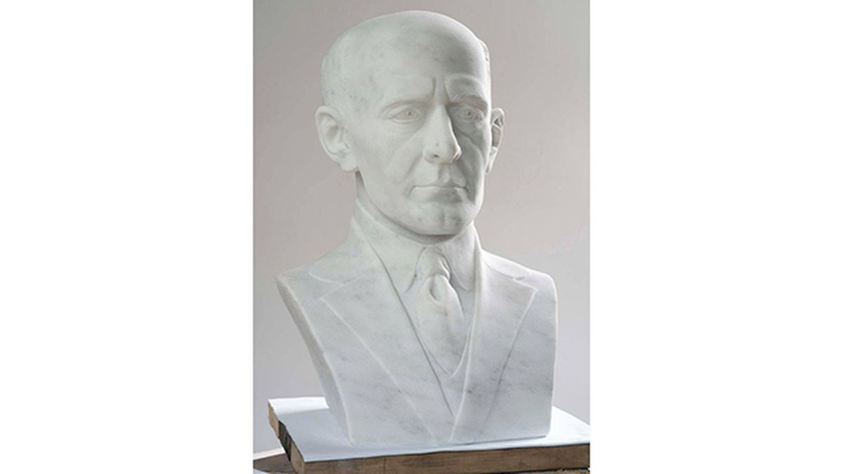 Bust of Paul Harris, the founder of Rotary International will be the seventh in the series of downtown carvings,