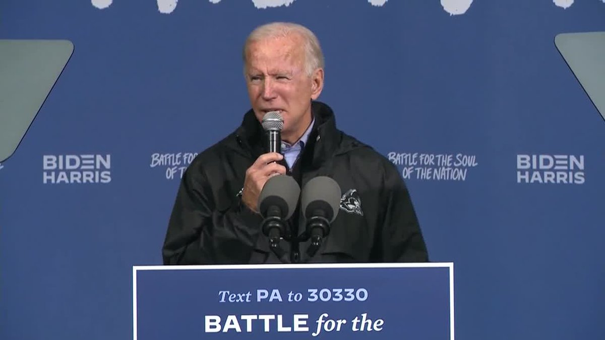 Former Vice President Joe Biden heads to battleground states for the final day of campaigning.