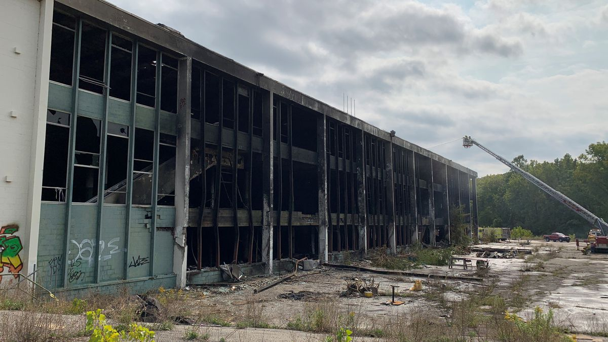 The aftermath of the fire at the Green Mountain Racetrack in Pownal.