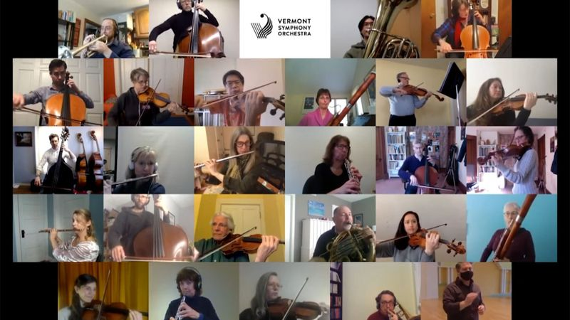 The Vermont Symphony orchestra released a special recording of the state song for employees...