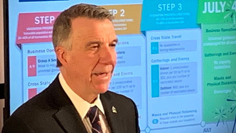 Gov. Phil Scott at Tuesday's briefing.