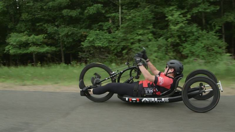 An Adirondack adaptive athlete Devann Murphy is on the move and she's taking her mission on the...