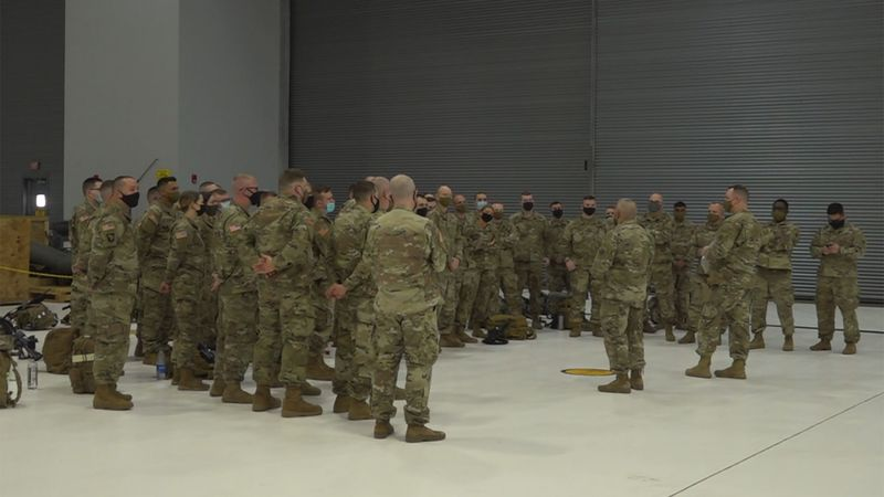Sixty soldiers with the Vermont National Guard deployed on Tuesday.
