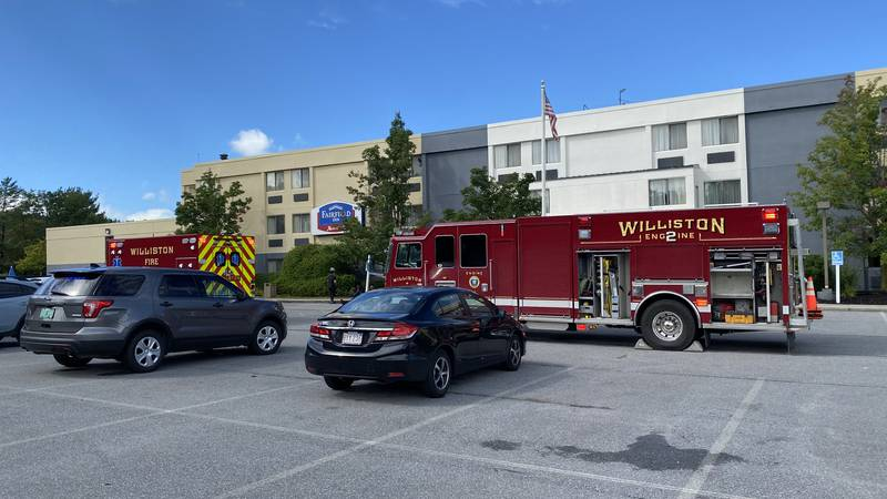 Hotel guests had to be evacuated from the Fairfield Inn in Williston Friday after bear spray...