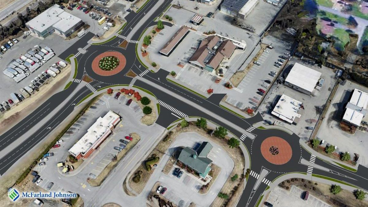 New roundabout in Hartford