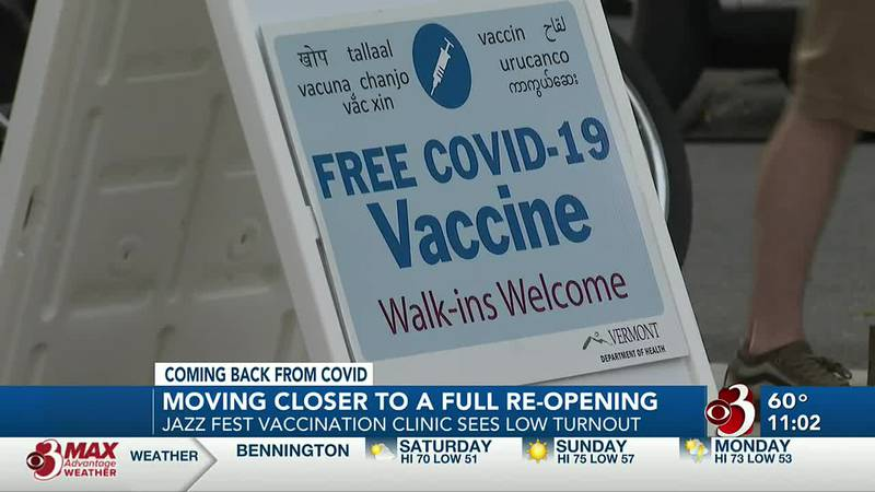 Vermonters react as state inches closer to 80% vaccination goal
