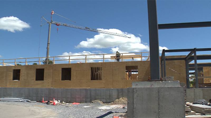 Construction site in Williston for Vermont Hotel Group project.