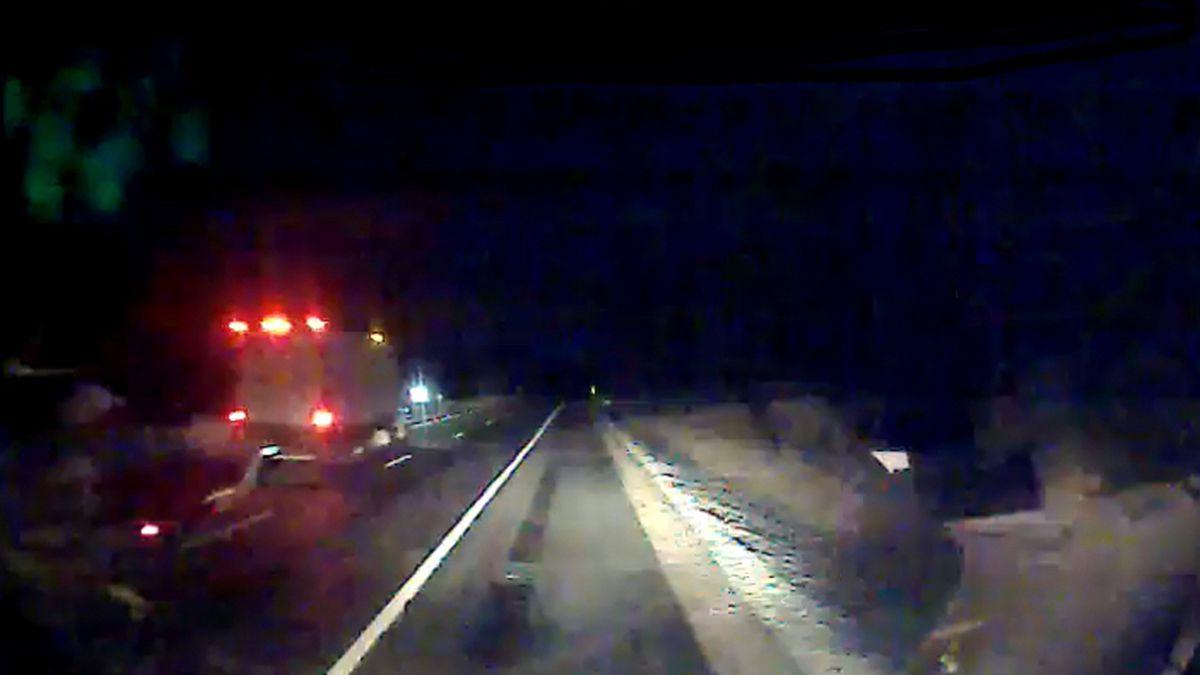 Box Truck, I-91 Crash in Rockingham