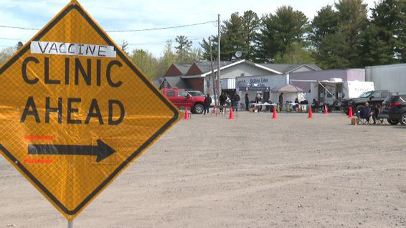 A mobile vaccination clinic in Plattsburgh Town this week.