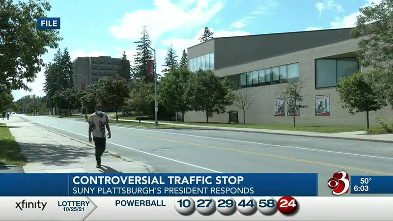 The president of SUNY Plattsburgh is responding after a traffic stop involving his students...