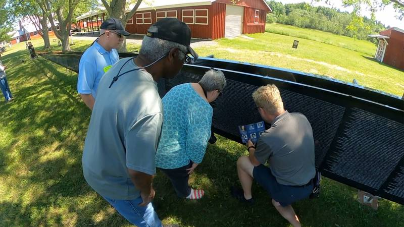 A traveling monument dedicated to Vietnam War veterans is visiting the North Country.