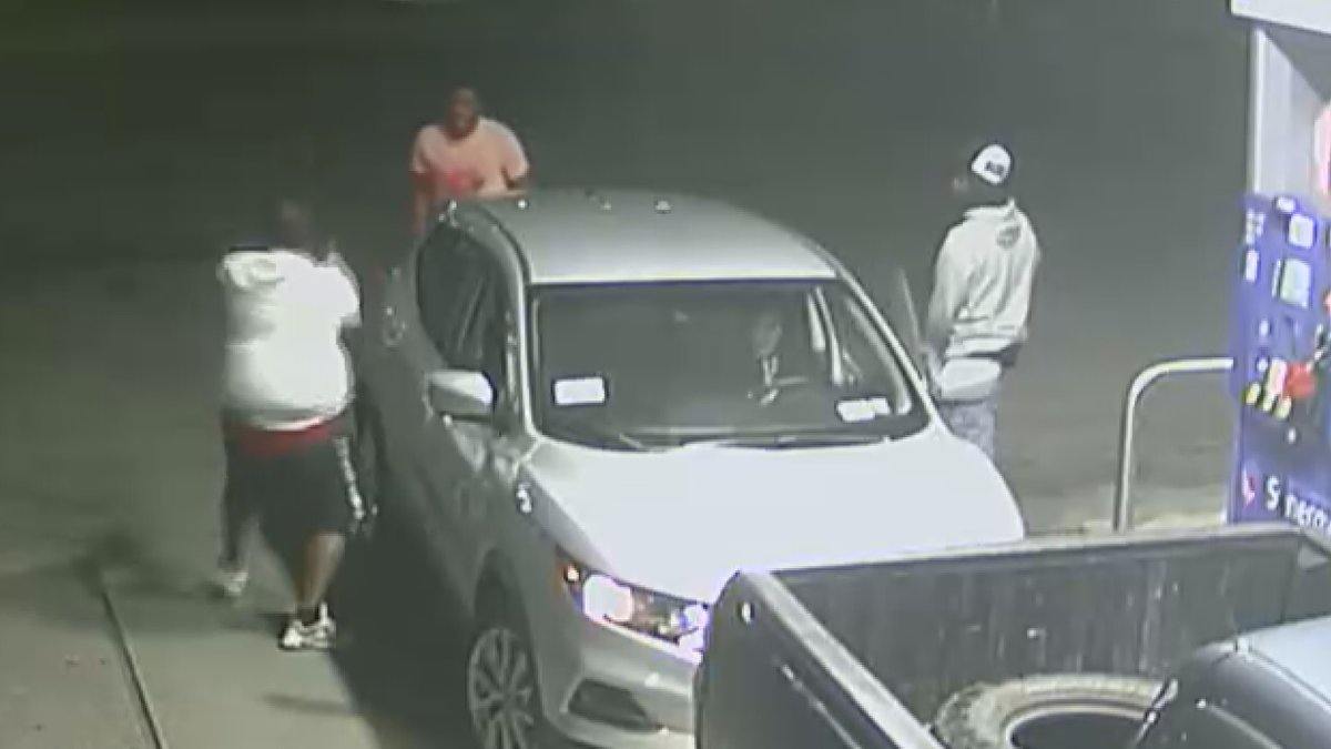 Three men fired multiple gunshots at each other Saturday, July 31 at Simon's Mobil on South...