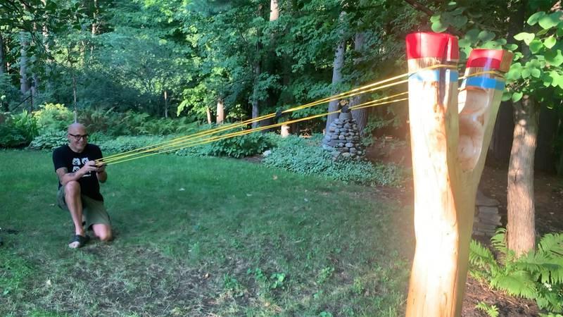 Have you ever dreamed of having a giant slingshot?