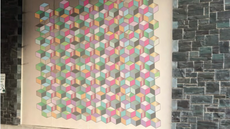 The Tumbling Blocks Community Quilt will be publicly unveiled in March.