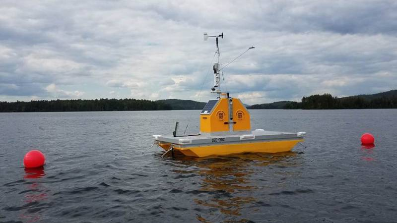 The Upper Saranac Lake Platform operated by Paul Smiths College Adirondack Watershed Institute.