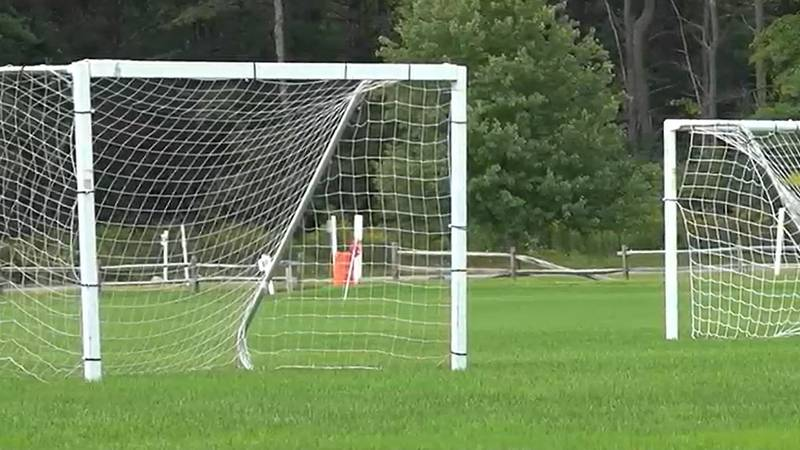 Soccer nets at the Tree Farm Recreational Facility in August 2021
