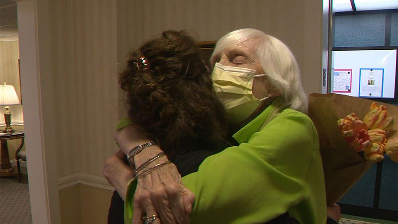 Karen Zaretzky waited for more than a year for the moment she could again embrace her mom, Liz...