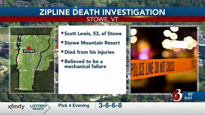 Police are investigating in Stowe after a resort employee died in a zipline accident.