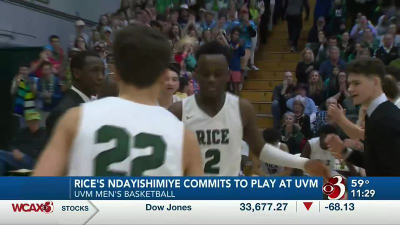 Green Knights'  standout Michel Ndayishimiye has signed a letter of intent to attend UVM and...