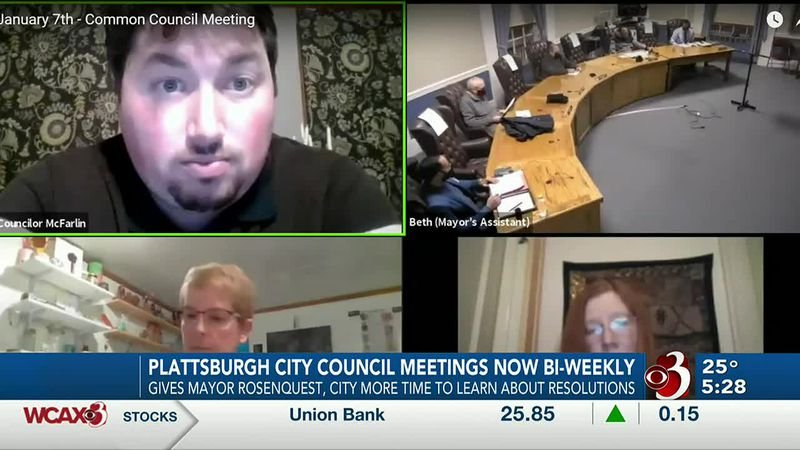 Plattsburgh City Council moves to biweekly meetings